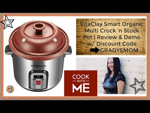 Vita Clay Organic Clay Crock 'n Stock Pot | Review & Demo Recipe
