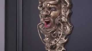 Hilarious Moment Door Knocker Comes To LIFE To Frighten Away Sales People    Only For A Gargoyle To