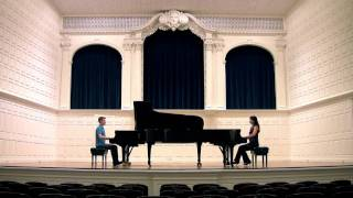 HD: Mozart's SONATA for TWO PIANOS - Anderson & Roe