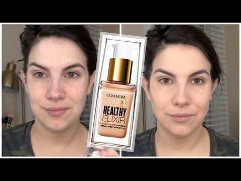FULL REVIEW! CoverGirl Vitalist Healthy Elixir Foundation
