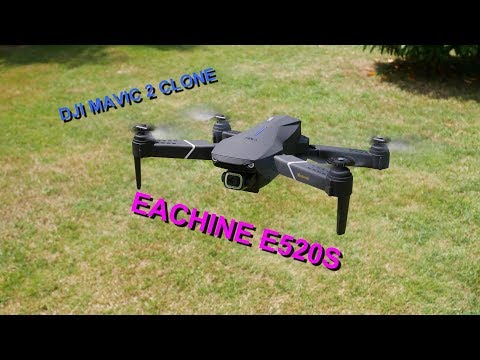 EACHINE E520S GPS , MAVIC 2 CLONE , REVUE ,TEST ,VOL , BANGGOOD DRONE
