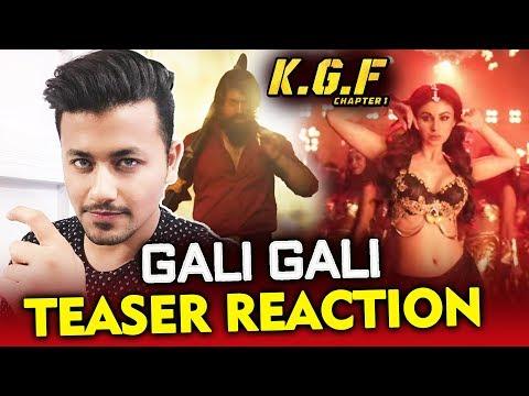 KGF: Gali Gali Song Teaser | Review | Reaction | Mouni Roy, Yash