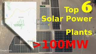 Top 5 Solar Power in Nevada in under 2 min | Greater than 100 MW | Virtual Tour om Google Earth
