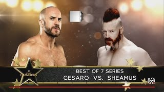 WWE Clash Of Champions 2016 Predictions Cesaro vs Sheamus Best Of 7 Series