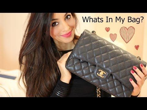 Whats In My Bag/Purse 2014 (Chanel Jumbo Caviar)