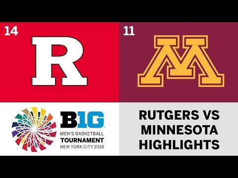 2018 Big Ten Men's Basketball Tournament: Rutgers vs. Minnesota