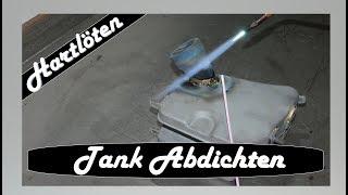 Motorrad Tank Hartlöten   Tank Abdichten Mit Messinglot   Oldtimer Motorradtank Reparatur