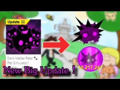 NEW BIG UPDATE 😱 / Dark Matter Pets New Egg & More / Pet Simulator Roblox  - iQeeDS