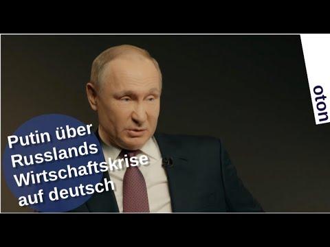 Putin über Russlands Wirtschaftskrise auf deutsch [Video]