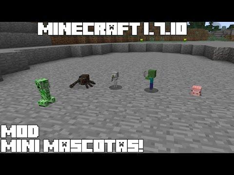 Minecraft 1.7.10 MOD MINI MASCOTAS! Iskall Mini Mobs Mod!