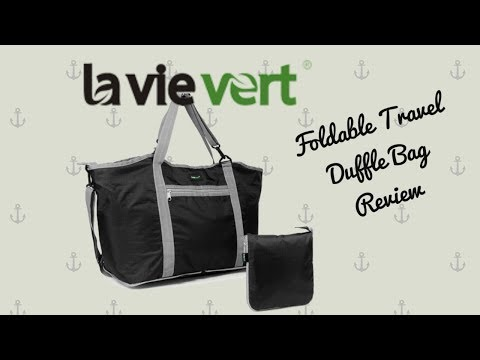 LAVIEVERT FOLDABLE TRAVEL DUFFLE BAG ~ REVIEW