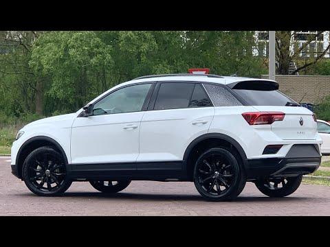 Volkswagen NEW T-roc Black Style 2021 in 4K Pure White 18 inch Grange Hill Walk around & inside
