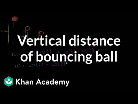 656969511 Infinite geometric series word problem  bouncing ball (video)