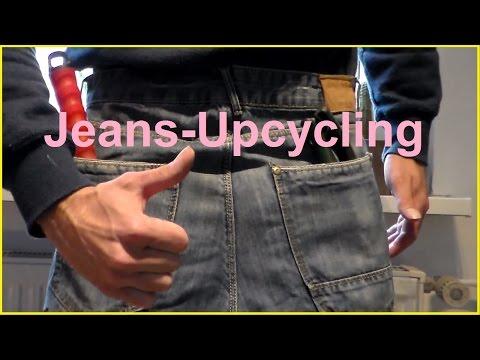 DIY Upcyling Jeans Werkzeugtasche oder Gartentasche Tasche selber machen