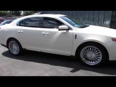 2009 LINCOLN MKS RIDING ON 20 INCH CHROME RIMS & TIRES DONE CORRECT!