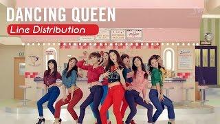 [Line Distribution] Dancing Queen - SNSD
