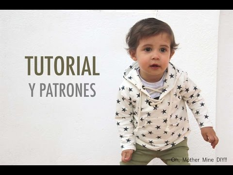 DIY Costura: Cómo hacer sudadera con capucha para niños (patrones gratis)