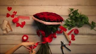 💝Букет «В виде сердца» | Букет алых роз!