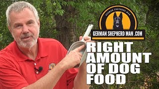 German Shepherd feeding measurements AND my dogs HOWLING!!!