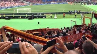 GRAZIE ROMA - 65mila persone - Live dalla CURVA STADIO OLIMPICO