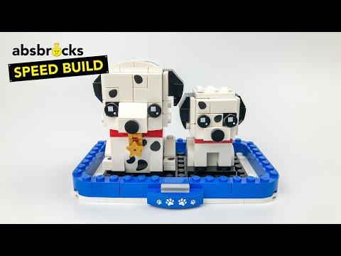 Vidéo LEGO BrickHeadz 40479 : Le dalmatien