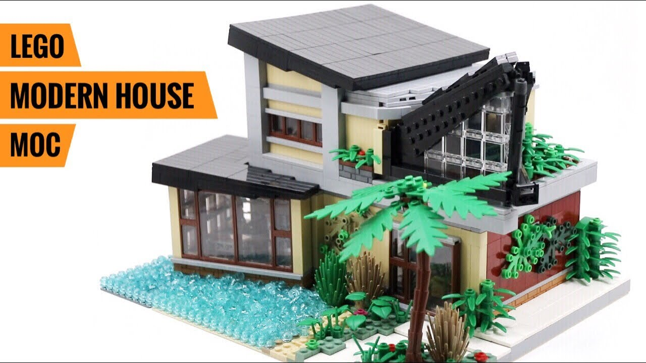 LEGO Tropical Modern Mansion MOC | Full Walk-Through & Tour