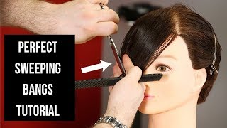 PERFECT Sweeping Bangs Tutorial - TheSalonGuy