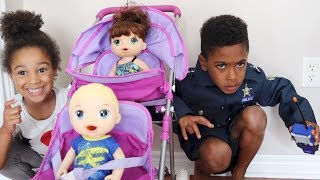 Police Kid VS My Life Dolls | Kids Pretend Play | FamousTubeKIDS