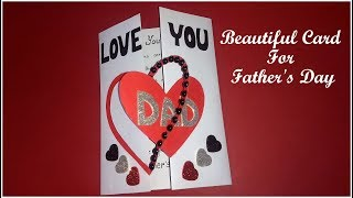 Beautiful handmade card for Father's Day | HANDMADE CARD for DAD | Fathers Day Card Idea | Tutorial