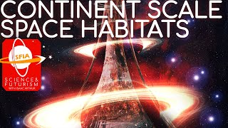 Continent-Sized Rotating Space Habitats