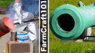 Casting a Historic Bronze Cannon Barrel, Scaled Down Replica. FarmCraft101