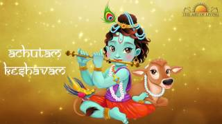 Heart Touching Art of living Bhajan Achutam Keshavam  Krishna Bhakti Bhajan Song by Sachin Limaye