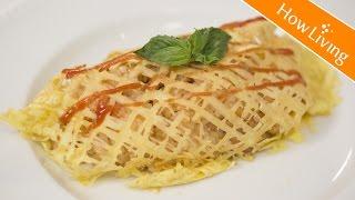【蛋料理】蕾絲和風蛋包飯 便當菜Omurice │HowLiving美味生活