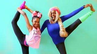 GYMNASTICS CHALLENGE!!! - Shiloh and Shasha - Onyx Kids