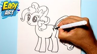 Como dibujar a pinkie pie / My little pony /How to draw my little pony