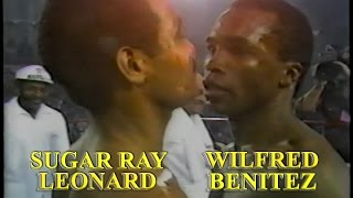 Sugar Ray Leonard vs. Wilfred Benitez the best moments