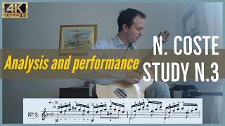 Napoleon Coste, study n. 3 op. 38. Analysis and Performance.