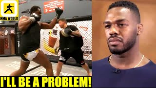 Jon Jones promises a style and shape that has never been seen in any Heavyweight fighter,Miesha Tate