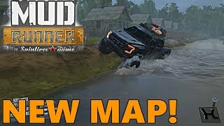 SpinTires Mud Runner: NEW FOREST MAP! Full Tour and Exploration, with Mods