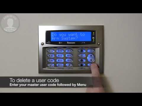 How to delete a user code on a Texecom Premier Elite system