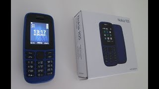 Nokia 105 2019 Mobile Phone Cell Phone Review, New Nokia 2019. Games, Snake, Classic Nokia.