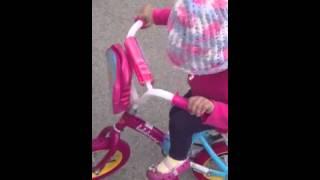 Jazzys riding her bike