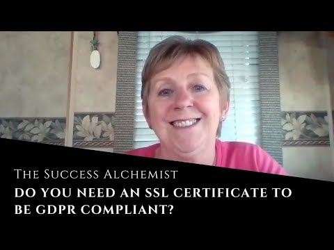 Do you need an SSL certificate to be GDPR compliant? - YouTube