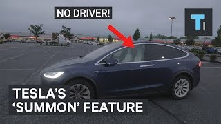 We Tried Tesla's 'Summon' Feature — Where The Car Comes And Picks you up
