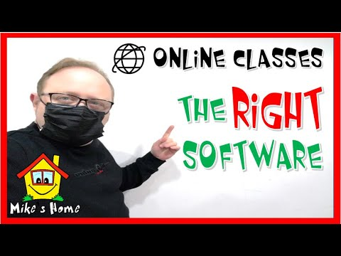 ESL Online Classes - THE RIGHT SOFTWARE - BEST FREE SOFTWARE FOR ONLINE TEACHING - ESL teaching tips