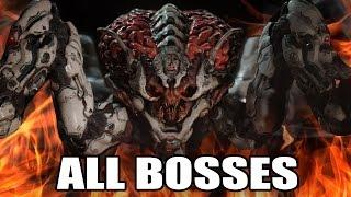 DOOM - All Bosses (With Cutscenes) HD