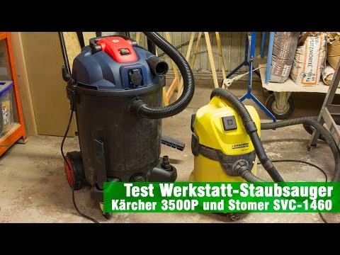 Werkstatt Staubsauger Stomer SVC1460 und Kärcher 3500P im Praxistest