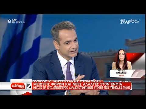 Μητσοτάκης: Με έμφαση στους αδυνάμους η διανομή του υπερπλεονάσματος   10/11/2019   ΕΡΤ