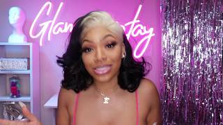 BLONDE With Black ENDS CURLY BOB |  Best Beauty Supply Frontall Ft. Janet Collection