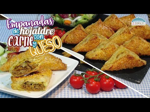 Receta Empanadas de hojaldre rellenas,  receta fácil y rapida de preparar. Loli Domínguez